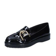 Women's shoes MICHAEL KORS 6 (36 EU) loafers black patent leather BN945-36