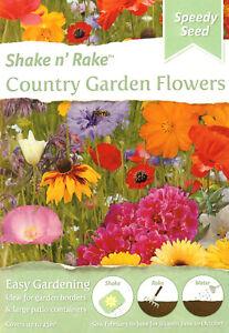 Country Garden 12,000 Flower Seeds/Shake n' Rake/Covers 25sq m/Pollinators/ 2023