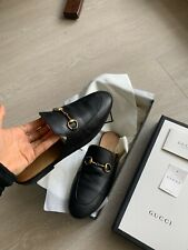 GUCCI Slip On Classic Leather Loafers -Black Size 36.5 RRP $990 Great Condition!
