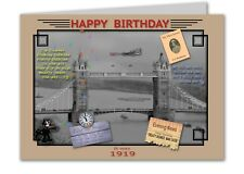 99th Birthday Card Souvenir of 1919 (2018)