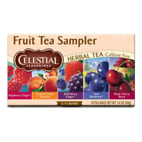 Celestial Seasonings Herbal Tea Bags, Fruit Tea Sampler 18 ea (Pack of 4)
