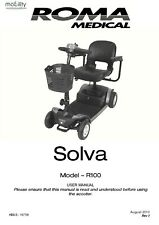 ROMA RMA SOLVA mobility scooter Owner / user manual