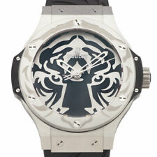 Hublot Big Bang Limited Edition Black Jaguar White Tiger Stainless Steel Watch