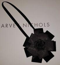 Nouveau-Topshop-origami fleur Bandeau-Noir