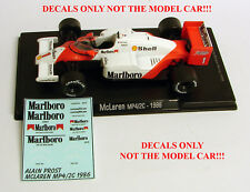 DECALS ALAIN PROST 1986 McLaren MP 4/2c F1 Marlboro 1:43 Formula 1 F1 ALTAYA