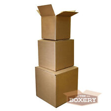100 6x6x4 Corrugated Shipping Boxes - 100 Boxes