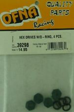 Ofna Racing 1/10th Scale On-Road Aluminum Hex Drives w/O-Rings (4pcs)  OFN39298