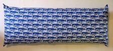 1-NFL DETROIT LIONS 100% PRINTED COTTON (BLUE & WHITE) BODY PILLOW CASE 20 X 52