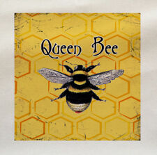 Queen Bee Printed Fabric Panel Make A Cushion Upholstery Craft