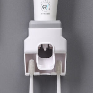 Wall-Mounted Automatic Toothpaste Dispenser Bath Lazy Toothbrush Squeezer Holder