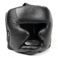 Black Good Headgear Head Guard Training Helmet Kick Boxing Protection Gear O5X4