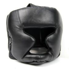 Black Good Headgear Head Guard Training Helmet Kick Boxing Protection Gear O5X4