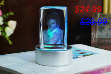 MJ Michael Jackson LED 3D Crystal Photobook Inner Carving Souvenir / Customize