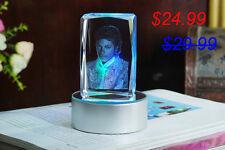 MJ Michael Jackson LED 3D Crystal Photobook Inner Carving Souvenir / Customize