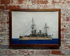 Lloyd Thomas -USS Olympia - 1895 Navy Ship - Oil painting