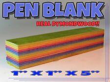 """Pen Blank AUTHENTIC DYMOND WOOD MULTI COLOR SUPER RARE!! 1"""" X 5"""""""