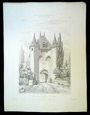 Ancienne Gravure - Porte de VILLENEUVE sur YONNE
