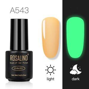 ROSALIND UV LED Soak Off Nail Gel Polish 250 Colours Salon Professional Top Coat