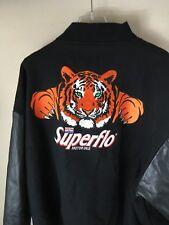 XXL 2XL Men's Exxon letterman varsity leather wool jacket Superflo Racing Tiger