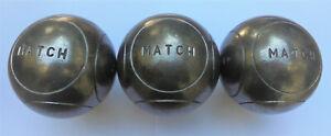 1 triplette boules pétanque de compétition obut MATCH Poids 700 g Diametre 75 mm
