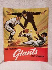 VINTAGE 1965 San Francisco Giants Yearbook, Willie Mays, HI GRADE!!
