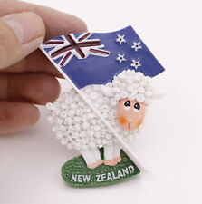 "1 Pcs 3D Fridge Magnet ""New Zealand Flag Sheep""Travel Souvenir Brand New 5*7CM"