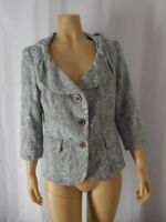 ETCETERA CARLISLE Jacket 6 8 gray blue 3/4 sleeves