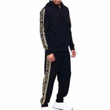 TRUE RELIGION Men's Logo Zip Sweatsuit Black XL