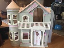 Vintage Barbie Doll Victorian Dream House with Working Elevator and Foldable