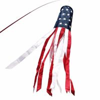 ANLEY 40/60 Inch American Flag Windsock Stars Stripes Patriotic Decorations