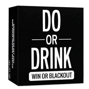 Do or Drink - Drinking Cards Game - Fun & Dirty Party - Dare or Shots For Adults