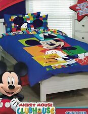 DISNEY MICKEY MOUSE CLUBHOUSE QUILT COVER SET SINGLE NEW