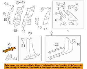 Chevrolet GM OEM 10-17 Traverse Interior-Carpet Retainer Right 20916196