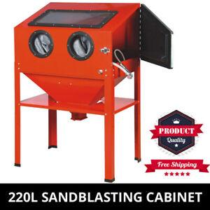 Sandblasting Sandblaster Cabinet Upright Heavy Duty 220L Capacity Cabinet for Sa