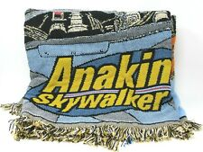 Star Wars Anakin Skywalker Woven Acrylic Blanket Throw 41 x 53 Movie Memorabilia