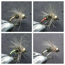 1 DOZEN TUNGSTEN HEAD NYMPHS FOR FLY FISHING (4 MODELS)-TUNG-110