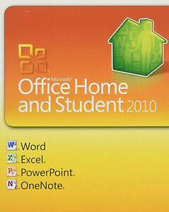 Microsoft Office 2010  Home & Student (key card) w/disc  Free Shipping!