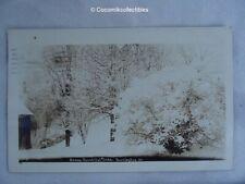 1914 Postcard Real Photo Type Snow Beautiful Snow Burlington VT Street Scene