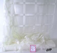 1 m. Karo weiß Gardinenstoff H. 145 cm Langstore Dekostoff Vorhang mit Bleiband