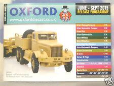 Oxford Diecast 48 página Bolsillo catálogo de junio a septiembre 2015 programa de liberación
