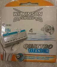 Wilkinson Sword Quattro Titanium Razor Blades x 8 FASTP&P genuine aloe + jojoba