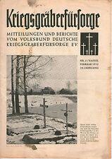 Zeitschrift 1952 Februar Kriegsgräberfürsorge Mitteilungen Berichte 28. Jahrgang
