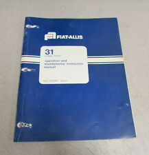 Fiat-Allis 31 Crawler Tractor Operation Maintenance Instruction Manual 1976