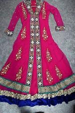 Vestido para mujer Vestido de mujeres asiáticas Paquistaní Anarkali de Bollywood indio fiesta tamaño 12