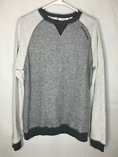 Men's GUESS size Medium M Active Long Sleeve Gray Pullover Knit Sweater NEW NWT