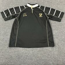 Men's LFR Live for Rugby Black Ireland Rugby Jersey Size Large Embroidered Logo