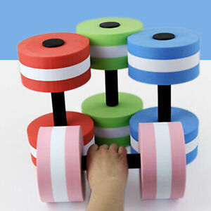 2/1Pcs Water Weight Workout Aerobics Dumbbell Aquatic-Barbell Fitness Swimming