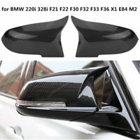 M3 Style Mirror Covers Carbon Fiber Replacement FOR 13-18 BMW F30 F31 F22 F23