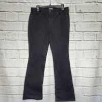 NYDJ Not Your Daughters Jeans Barbara Bootcut Black womens size 12