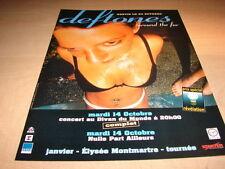 DEFTONES AROUND THE FUR!!!!!!!!!!!!FRENCH PRESS ADVERT